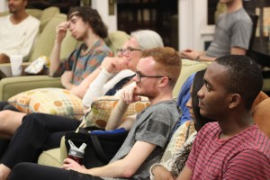 Students listen to panelists. Photo by Shea Parikh '16