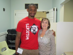 Xzavier with Executive Director of the clinic, Patsy Whitney