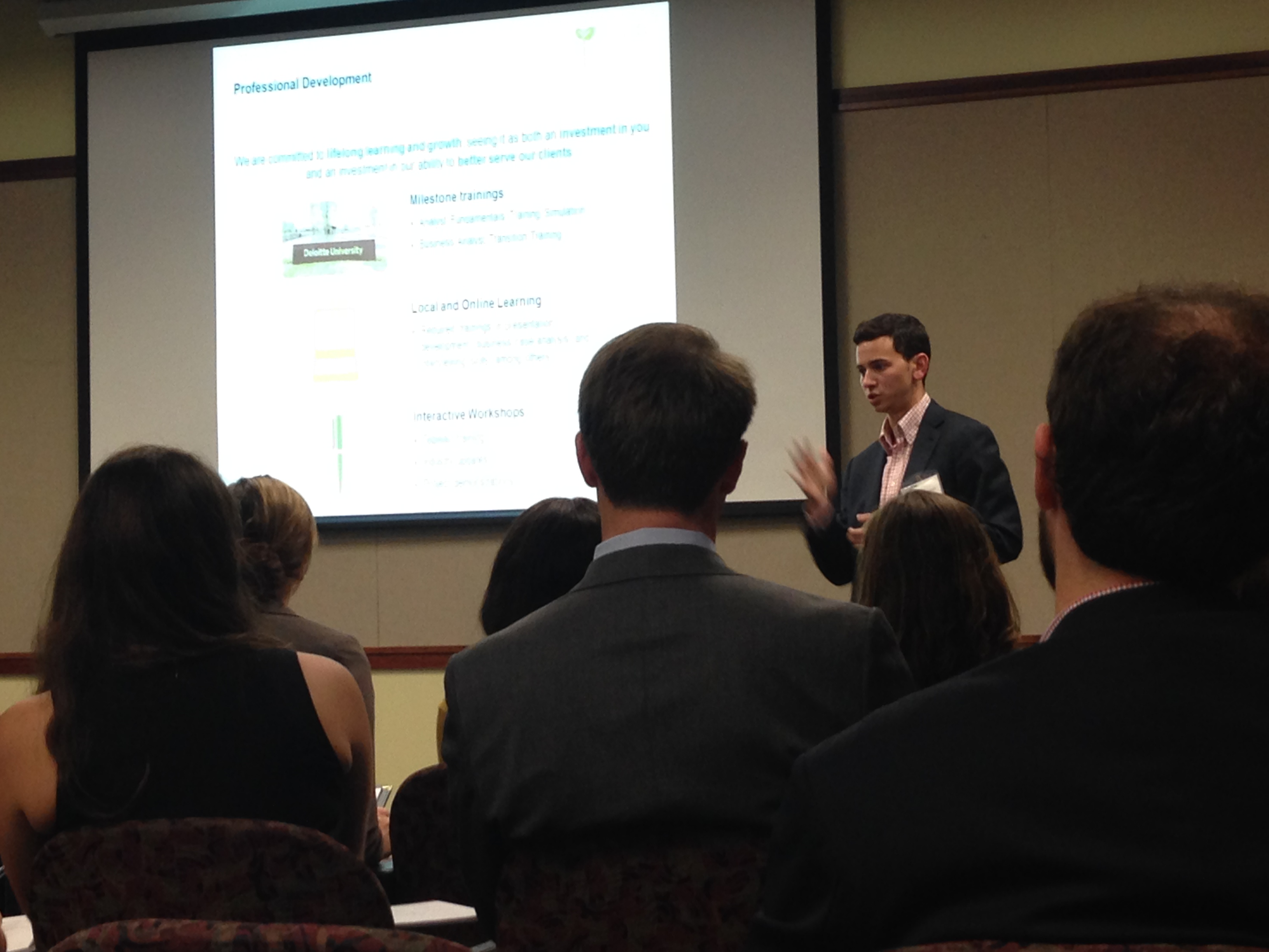 Davidson Alumni Represent Deloitte in On-Campus Recruiting Session ...
