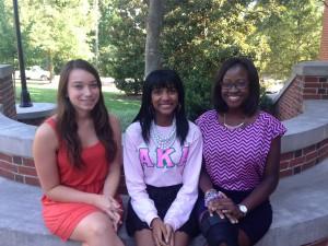 Left to Right: Katie Layendecker, Amani Carter, Stella Dadson