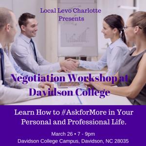 Negotiation Workshop at Davidson College