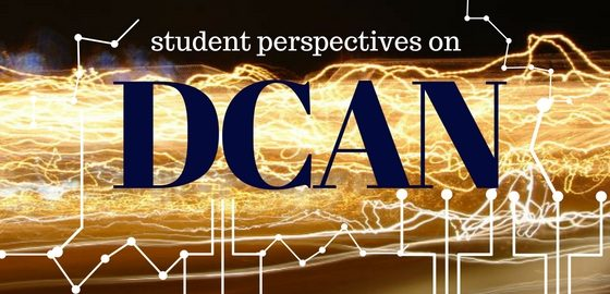 "networking cables with text: ""Student perspectives on Davidson Career Advisor Network (DCAN)"""